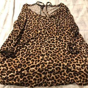Dressy cheetah shirt